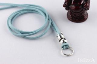 VELOURBasisband Türkis mit Krone und Ring für Wechselanhänger Charmkette