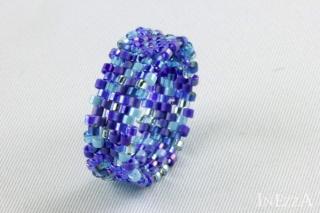 Bandring Breite 8 mm Dm 18,8 mm Blautöne Bluetones