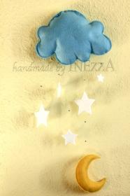 Mobile für Baby ☆ Mond Sterne Wolke ☆ Handgearbeitet von Inezza