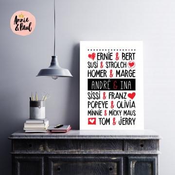 Print | Valentinstag | Jahrestag | Für Verliebte | Format A4