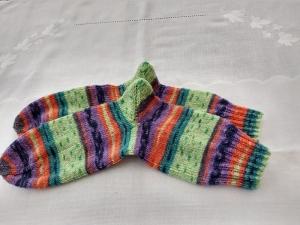 Handgestrickte Socken Gr. 40/41     - Handarbeit kaufen