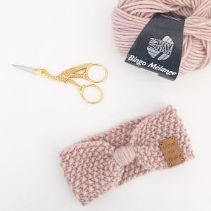 ELLI - Strickanleitung für Stirnband mit Schleifenoptik - Handarbeit kaufen