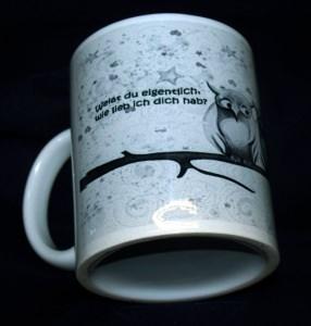 Kaffee-Becher Liebes Paar Eule den Aufdruck
