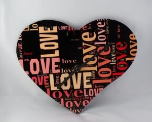 Wand-Uhr in Herzform für Verliebte