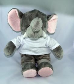 Süßes Plüschtier-Elefant-Jumbo mit Personalisierbarem T-Shirt