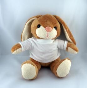 Süßes Plüschtier-Bunny der Hase mit 2 T-Shirts Personalisierbar