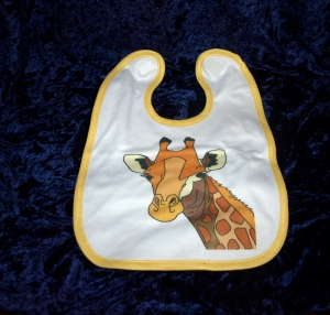 Babylätzchen mit einer Süßen Giraffe
