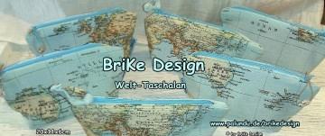 ☀Krimskrams-Tascherl Weltkarte☀ handmade BriKe Design  - Handarbeit kaufen