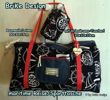 ☆Weekender/Reisetasche/Sporttasche☆ mit Krimskrams-Tascherl handmade BriKe Design - Handarbeit kaufen