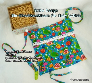 ♡Bio-Kirschkernkissen Schnecke♡ handmade BriKe Design