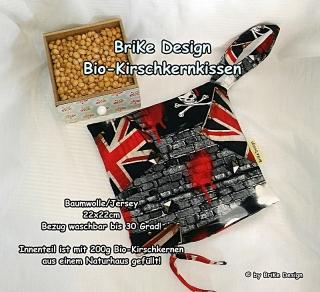 ♡Bio-Kirschkernkissen England♡ handmade BriKe Design  - Handarbeit kaufen