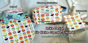 ♥herziges Set♥ mit Latzerl, Knistertuch und Krimskrams-Tascherl handmade BriKe Design