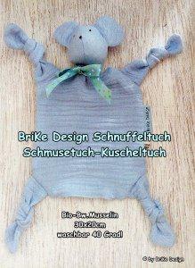 Schnuffeltuch ♡Mausi♡ hellblau - Schmusetuch - Kuscheltuch zum Knuddeln und Liebhaben! handmade BriKe Design - Handarbeit kaufen