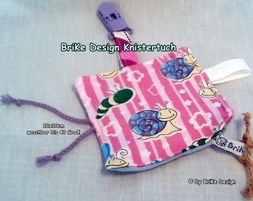 ♥Knistertuch Schnecke♥ mit Clip handmade BriKe Design - Handarbeit kaufen