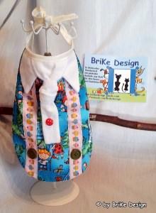 ♡Lätzchen Krawatte weiss♡  handmade BriKe Design - Handarbeit kaufen