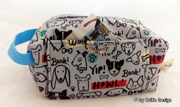☀Reise-Krimskrams-Tascherl Hunde Softshell☀ handmade BriKe Design