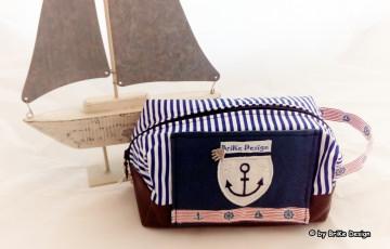 ☆Krimskrams-Tascherl maritim Anker☆ handmade BriKe Design