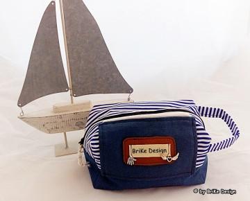 ☆Krimskrams-Tascherl maritim mit Anhänger☆ handmade BriKe Design   - Handarbeit kaufen