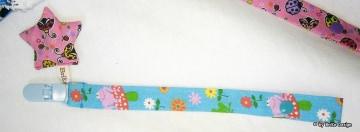 ♡Band Sternchen♡ blau/rosa Stern♡ handmade BriKe Design - Handarbeit kaufen