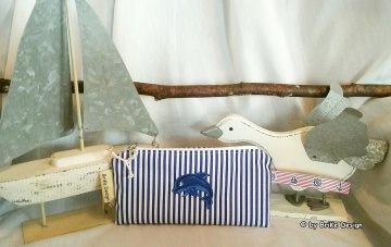 ☀Krimskrams-Täschchen Delphin☀ maritim handmade BriKe Design