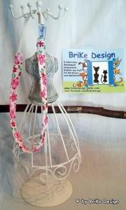 ☆Haarband rosa Blumen/schmal☆ handmade BriKe Design  - Handarbeit kaufen
