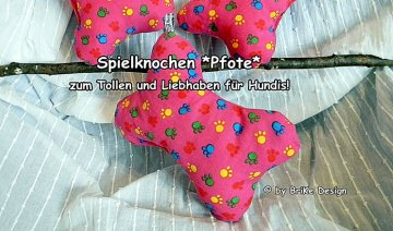 ☆Hunde-Stoff-Knochen Pfote rosa☆ handmade BriKe Design - Handarbeit kaufen