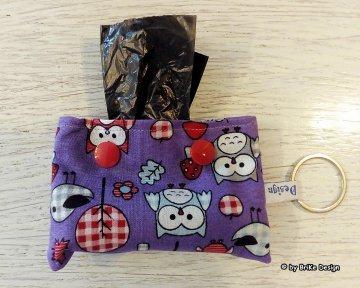 ♡Gassi-Tascherl Eulen♡ zum Anhängen an Schlüssel oder Tasche♡ handmade BriKe Design - Handarbeit kaufen