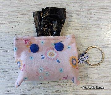 ♡Gassi-Tascherl rosa♡ zum Anhängen an Schlüssel oder Tasche♡ handmade BriKe Design  - Handarbeit kaufen