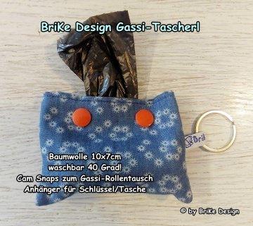 ♡Gassi-Tascherl blau♡ zum Anhängen an Schlüssel oder Tasche♡ handmade BriKe Design   - Handarbeit kaufen