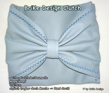 ☀stylische Clutch☀ *Masche* handmade BriKe Design - Handarbeit kaufen