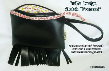 ☀stylische Clutch☀ *Fransen* handmade BriKe Design  - Handarbeit kaufen