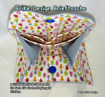 ♡stylische kleine Brieftasche *hellblau*♡ handmade BriKe Design  - Handarbeit kaufen