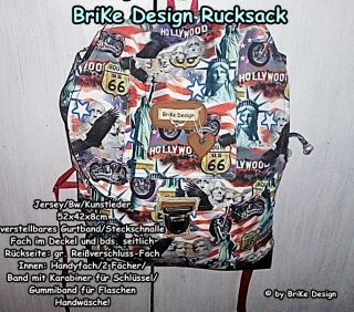 ☀stylischer Rucksack Hollywood☀ handmade BriKe Design