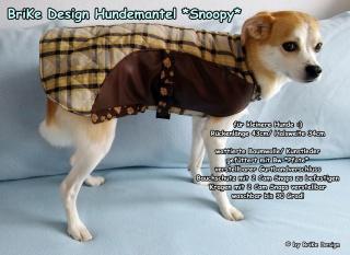 ☀Hundemantel *Snoopy*☀ handmade BriKe Design - Handarbeit kaufen