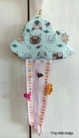 ♡herzige Haarspangen-Wolken mit Katzen oder Sternen♡ handmade BriKe Design