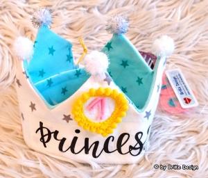 ♡ Geburtstagskrone *Prinzessin* weiss/mint♡  handmade BriKe Design