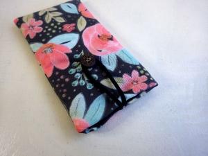 Ostrfriesen Boho Blume - Handytasche Handyhülle Handytäschchen Iphone 8 plus Samsung Galaxy S8 anthrazit, rosa, türkis, naturweiß, öko - Handarbeit kaufen