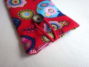 Matroushka rot - Handytasche Handyhülle Handytäschchen Iphone 8 plus Samsung Galaxy S8, OPPO blau, rot  - Handarbeit kaufen