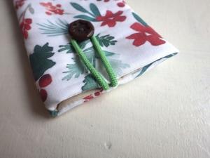 Weihnachts Blume Aquarell - Handytasche Handyhülle Handytäschchen Rose Trachten Iphone 7 plus Samsung Galaxy S9 OPPO - Handarbeit kaufen