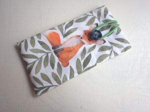 Füchschen Aquarell - Handytasche Handyhülle Handytäschchen Fuchs Minimalismus Iphone 7 plus Samsung Galaxy S9 OPPO  - Handarbeit kaufen