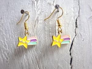 Ohrringe Regenbogensternschnuppe - Kawaii niedlich Regenbogen Sternschnuppe
