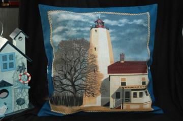 Kissenbezug / Kissenhülle Leuchtturm Sandy Hooks