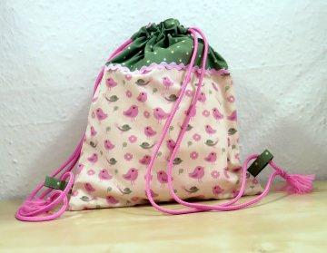 Turnbeutel / Rucksack Little Bird für kleine Mädchen