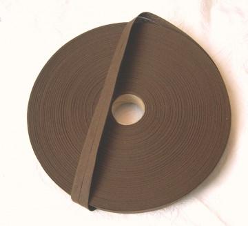Baumwoll-Schrägband in braun, vorgefalzt auf 20 mm, 5 Meter