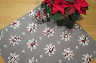 Tischdecke Weihnachts-Wichtel, grau, 77 x 77 cm