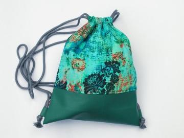 Rucksack Kunstleder grün