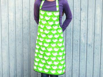 Kinderschürze, Kochschürze für Kinder in grün