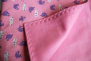 Kuscheldecke rosa, Babydecke, Krabbeldecke 80 x 80 cm