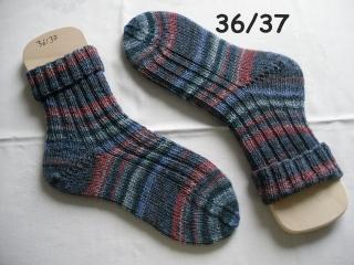 handgestrickte Socken Gr. 36/37 , handgestrickte Strümpfe