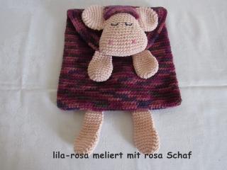 gehhäkelte Schlafanzugtasche mit Schaf, auch als Kissenhülle verwendbar (Kopie id: 100122286)